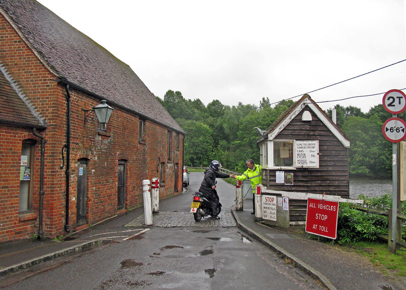 The Tide Mill and the Toll Bridge. Both in operation.