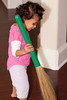 Reya's fascination for the Indian broom (jhadu in Hindi)
