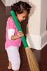 Reya's fascination for the Indian broom (jhadu in Hindi)