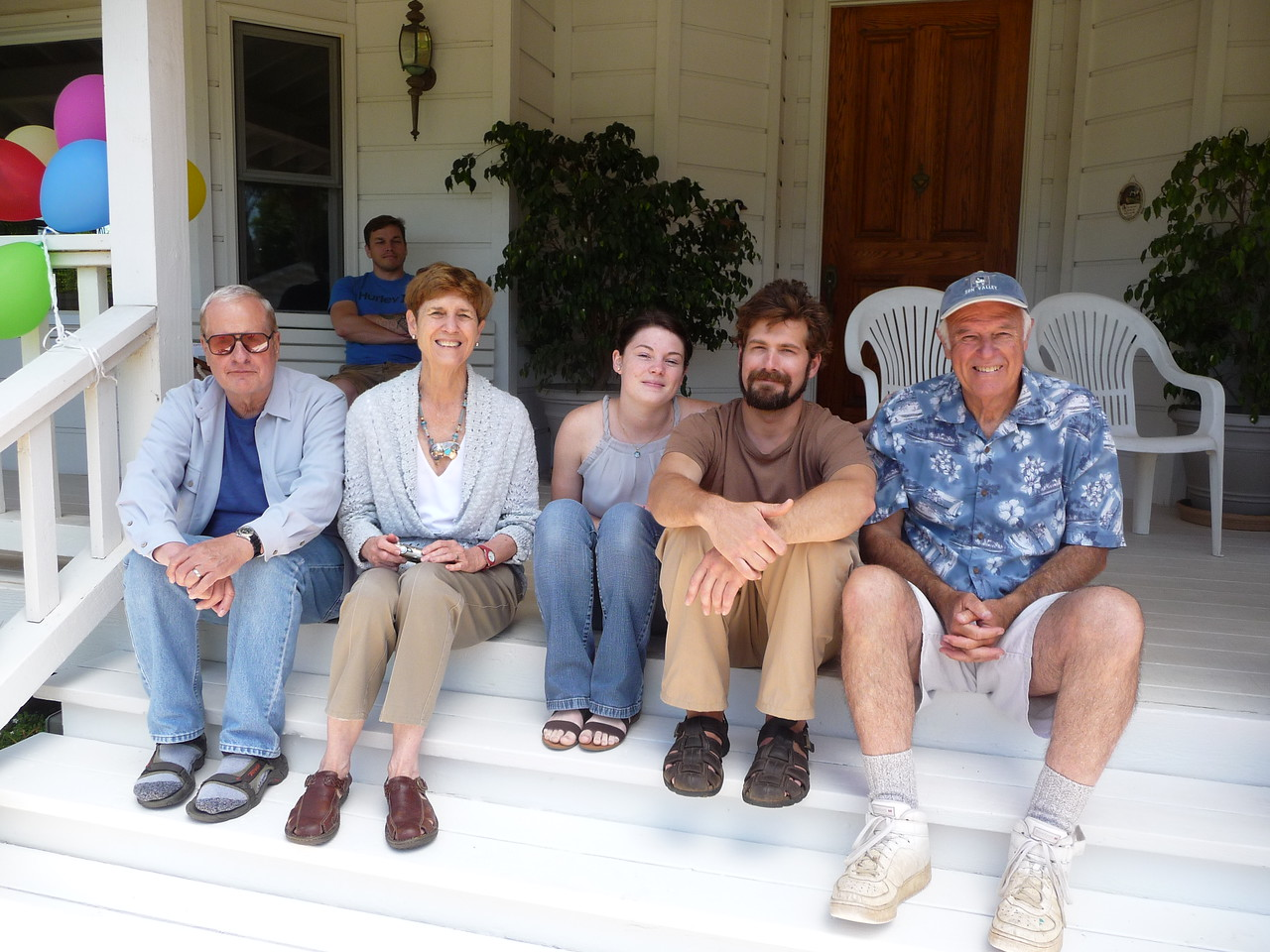 Uncle Dick, Bren, Aunt Pat, Tessa, Chris and Uncle Mike