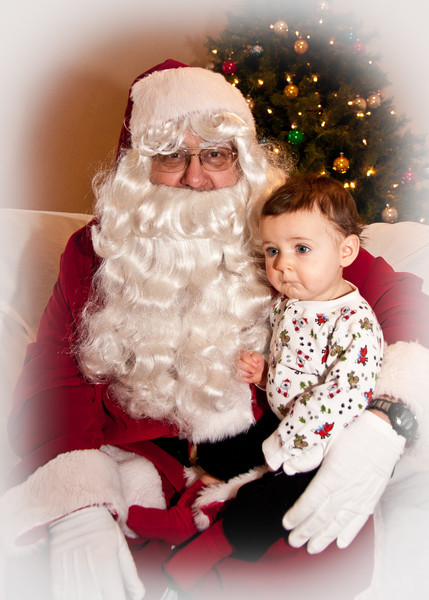 A.J. Meets Santa.....and could care less!