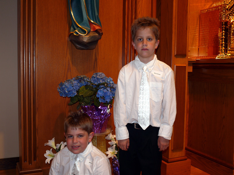 The boy's on a very special day.