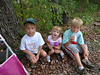 Rails to Trails Walk. August 15. Richie, Mary & Alex are taking a break. ©2010 Thomas Stanziale. All rights reserved.