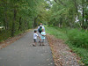 Rails to Trails Walk. August 15. Richie (with the hat) Alex & Richard with stroller are off on a hike. The photographer is getting old and lagging behind to take this photo. ©2010 Thomas Stanziale. All rights reserved.