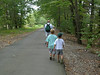 Rails to Trails Walk. August 15. We are all lined up for the return trip. ©2010 Thomas Stanziale. All rights reserved.