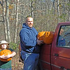 PUMPKINS FOR THE DEER FEED FOR THE DEER ANOTHER SUBJECT I FEED DEER AND SHOT A LOT OF DEER OVER BAIT FOR YEARS WHEN VERY FEW AND I  MEAN VERY FEW KNEW IT WORKED COMMON SENSE TELLS YOU WHEN YOUR HUNGRY YOU GO FOR FOOD YOU ARE NOT A GENIUS IF YOU ARE AWARE OF THAT AND YET I KNEW OF VERY FEW BUT FINALLY  IT GOT OUT. AND THOUGHT TO BE UNETHICAL AND FINALLY OUTLAWED BY THE STATE OF N.J.WELL SKIP WAS NOT ABOUT TO STOP BECAUSE OF A MAN MADE LAW I CONTINUED . TO DO WHAT I ALWAYS DONE I HID AND BAITED AND CARRIED TO THE MOST REMOTE LOCATIONS SO I WOULD NOT GET CAUGHT I WOULD STAY UNTIL IT GOT PITCH DARK THAT WAS THE BEST TIME THE LAST MINUTES OF THE DAYTHE DEER KNEW AND  ACCEPTED  THE CHALLENGE. I HAD A SAYING BACK THEN DARKNESS SEPERATES THE MEN FROM THE BOYS  WELL SKIP WAS AN OUTLAW AND I KNOW THEY WERE JEALOUS WHEN THEY WOULD SEE THE RESULTS  SKIP WAS AN OUTLAW SO BE IT. THEN WHAT DOES THE STATE DO MAKE IT LEGAL  EVERYONE NOW DOES IT I GUESS SKIP IS NOT AN OUTLAW ANYMORE I WAS KEPT OUT OF THE PARLIN CLUB ALL THOSE YEARS I WAS AN OUTLAW SO BE IT AND NOW WITH EVERYONE PLACING THOUSANDS IF POUNDS OF CORN ALL OVER THE WOODS TONS COMMON SENSE WILL TELL YOU THE DEER ARE FULL THEY DONT HAVE TO TAKE THE CHANCES THEY DID IN THE OLD DAYS AND NOW I FIND IT IS HARDLY WORTH WHILE SO BE IT.