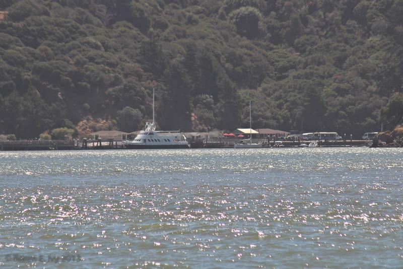 Angel Island - the ferry dock, from Tiburon