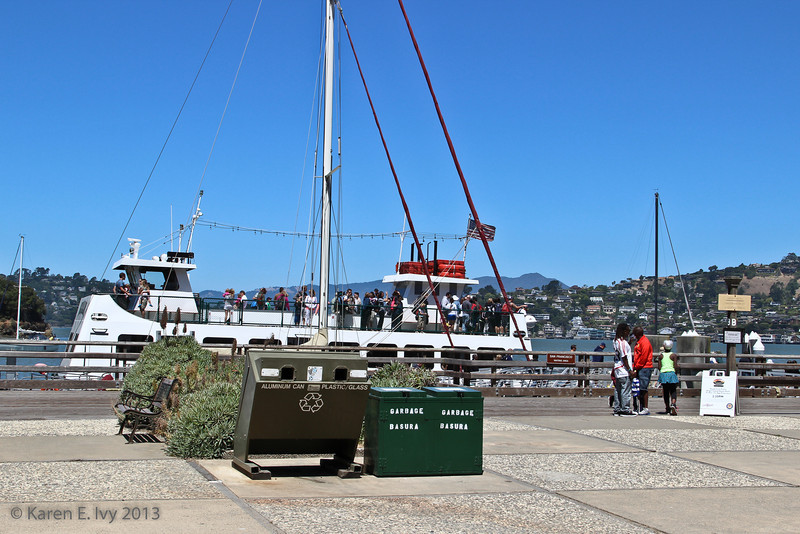 Tiburon Ferry at the ferry dock on Angel Island
