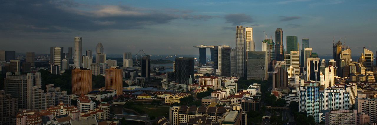 Singapore from our rooftop ( August 9th 2010. Sunset)