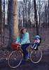Trudy & Anna Lisa on bike, Sellersville PA, 1989