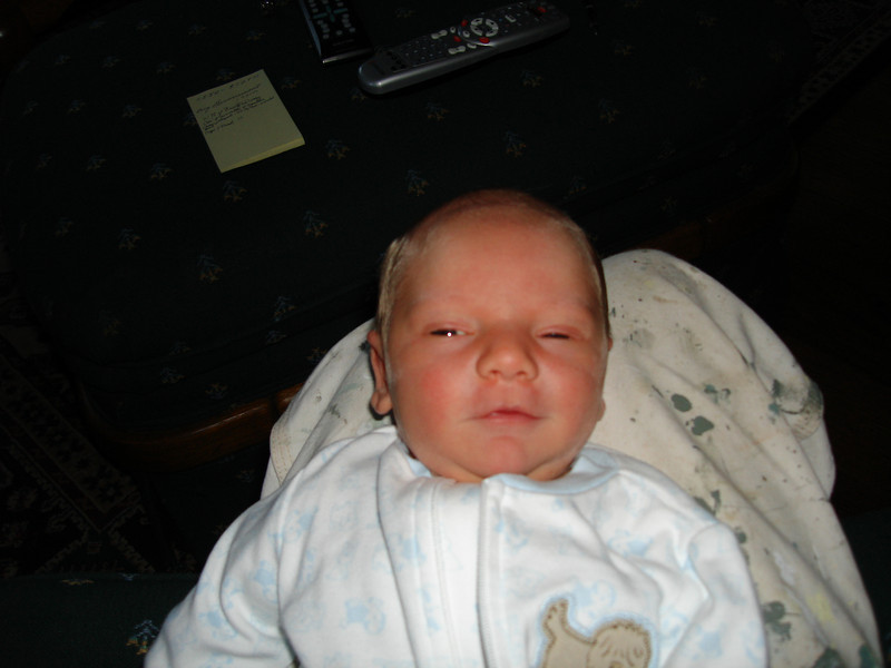 "3 days old...""Yea I caught ya checking me out, I wasn't asleep."""