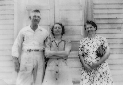 Grandma Hazel America Roberts-Bensheimer visiting her cousin Grover Roberts and his wife Mary, in Iowa.