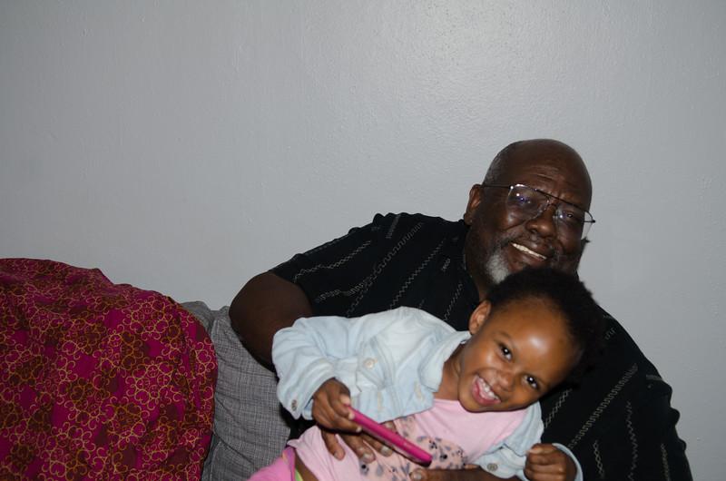 150604 Grandpa Malcolm, Imani, and Ashante