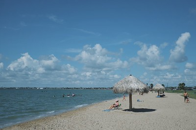 Rockport Beach is adjacent to our home in Key Allegro.