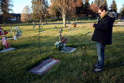 We decided to stop by and find Grandma Semanko's grave. Both of us had not been there before. After some searching and then calling Aunt Maria for directions we finally found it.