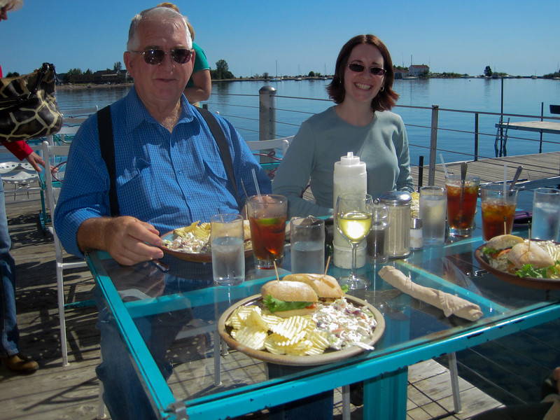 Lunch at the Hungry Trout, Grand Marais