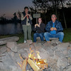 Feasting on S'mores at Cove Point cCrossing campfire