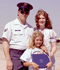 Ronnie, Jan and Michelle.  Kim was due in a few months.  Ronnie had just received an award at Carswell AFB