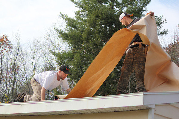 Roofing at Donna and Joe's OCT 27, 2012