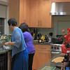 Joan & Mel in the kitchen