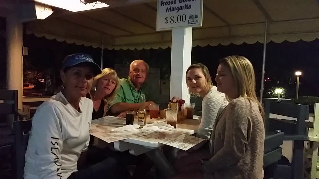 Such friendly people! Happy Bday to Daryl from (L-R) Crissy (in hat), Rowen, Grandpa, Bridgette, Ashley