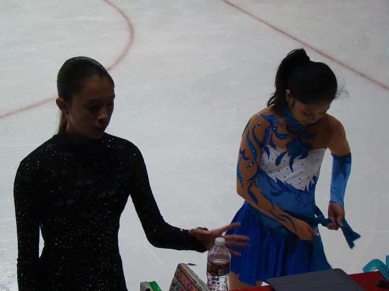 That's Tess Thiele on the left. She's also from Princeton Skating Club