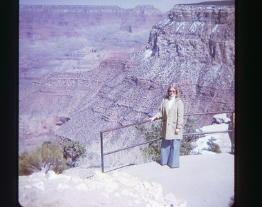 Chris Grand Canyon May 1973 slide 2 color transparency