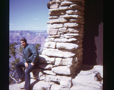 Dave Grand Canyon May 1973 slide 10 color transparency