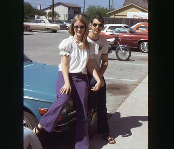 Chris  and Dave Corpus Christi Aug 1973 slide 19 color transparency