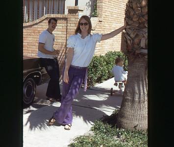 Chris and Dave Corpus Christi Aug 1973 slide 4 color transparency