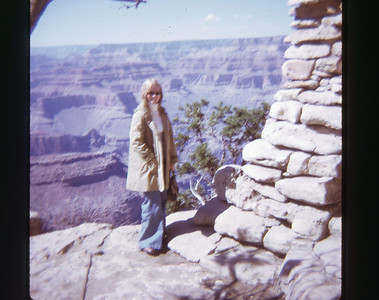 Chris Grand Canyon May 1973 slide 7 color transparency