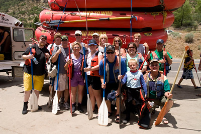"2007 Kane Family Reunion. We enjoyed an afternoon of rafting the Lower Animas River through Durango, Colorado. The water was low and running slow, but it was still a fun trip, which was described by our operator, Mild to Wild Rafting & Jeep Trail Tours, Inc., as follows: ""relax and enjoy a different view of historic Durango as you bounce through fun-filled rapids like ""Smelter"", ""Sawmill"", ""Santa Rita"" and ""Pinball"". (Image taken with Canon EOS 20D at ISO 200, f11.0, 1/250 sec and 19mm)"