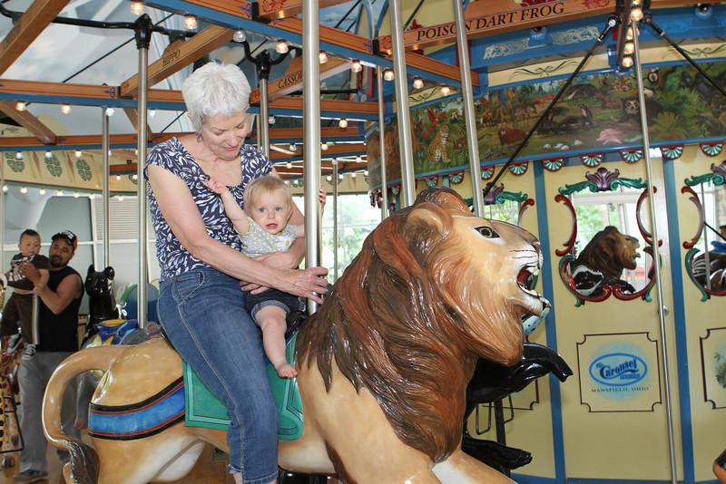 Hey G-Papa-K.  I'm riding a lion with Grandma Sarah.