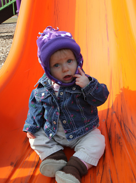 Wow...I'm on a big slide and I can't even walk yet.