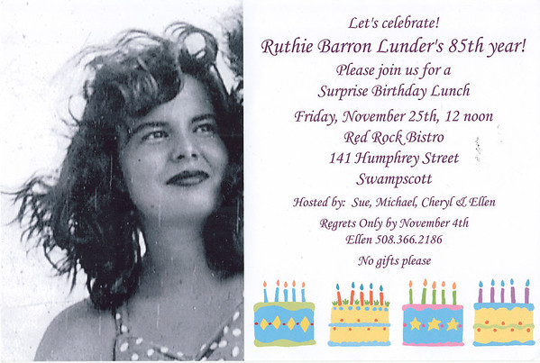 Ruthie's 85th