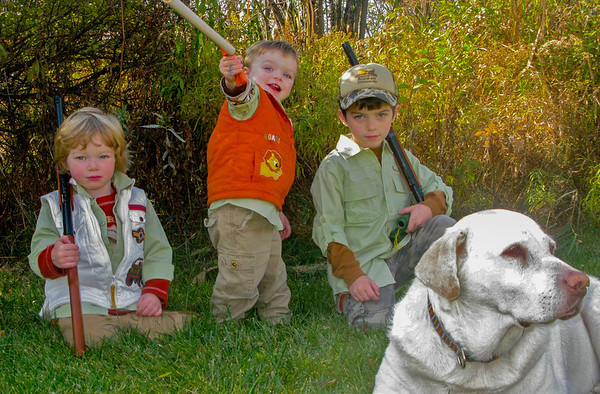 boys--BB-guns-&-dog