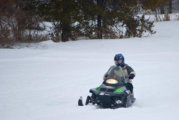 Ryan & Joe Snowmobiling