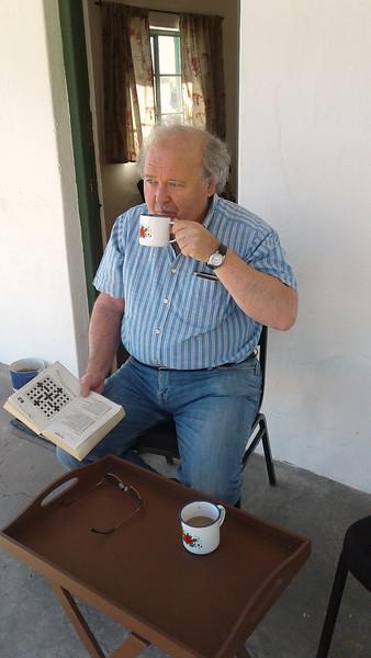 Morning routine, Rietfontein