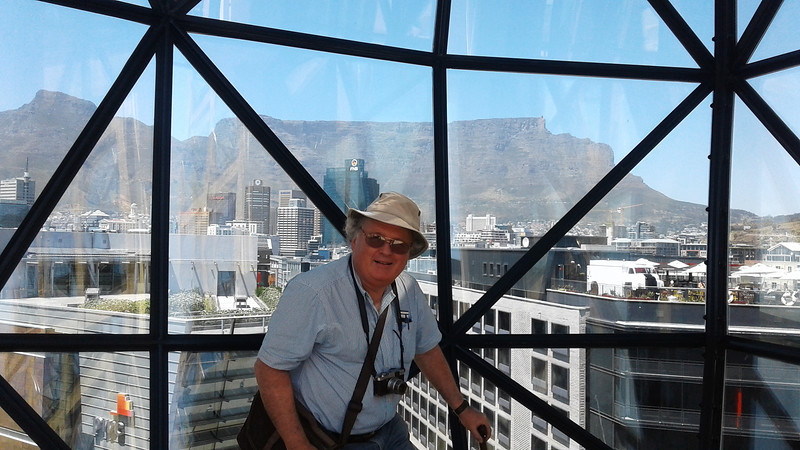 John on the top floor of Zeitz-MOCAA
