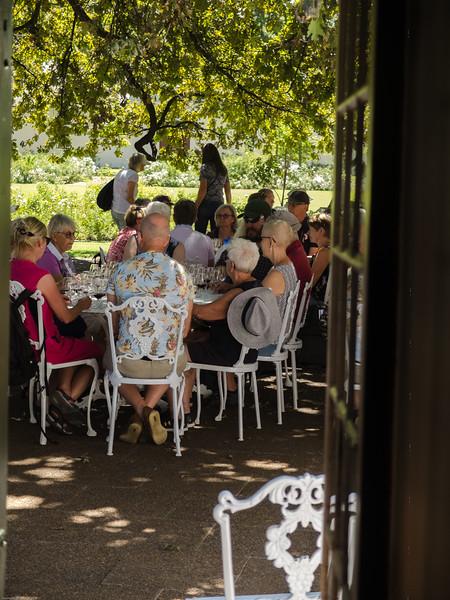Wine tasting group at Boschendal