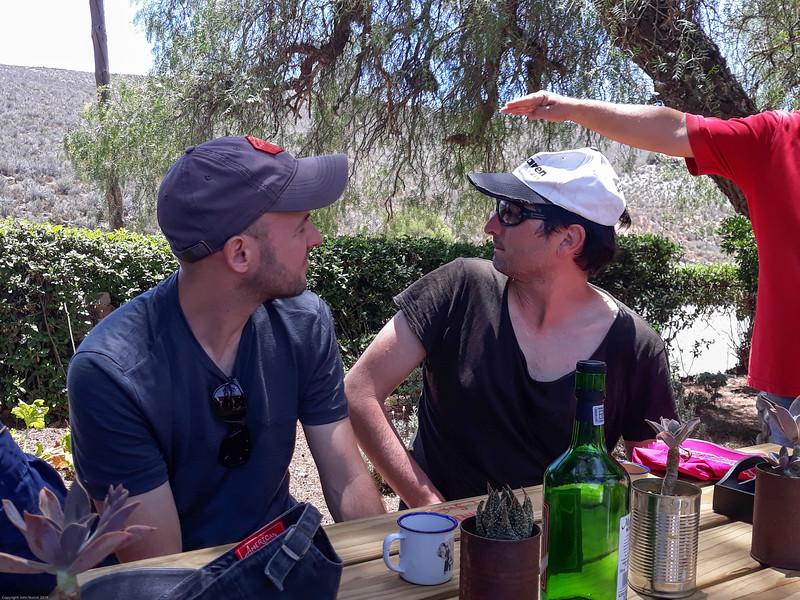 Frederik, Gino and the proprietor