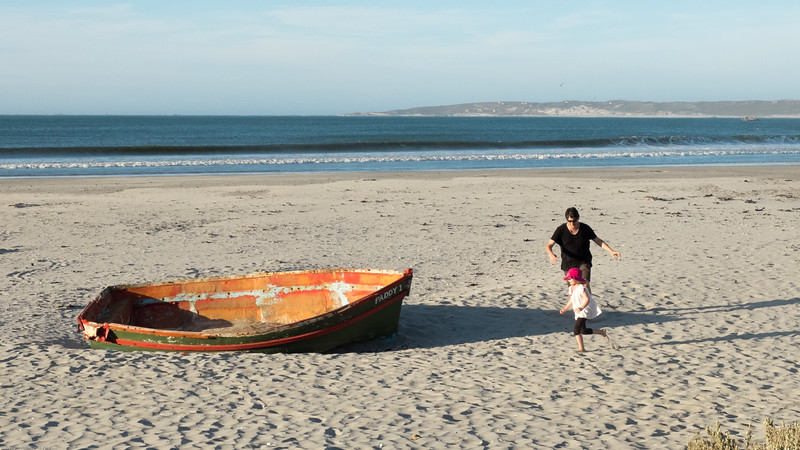 Sophia and Gino on the beach at Paternoster