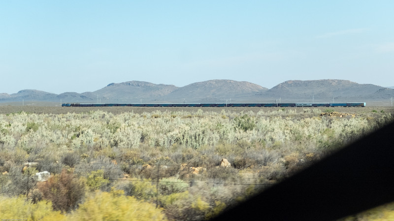 The train we did not take, finally heading for Matjiesfontein