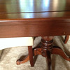 Dining room table dented and scratched