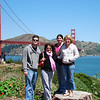 Family with Golden Gate Bridge in the background.