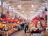 """SAINT JOHN CITY MARKET - Plus de 100 ans de vieux - Vue du haut - N.B. - La tête d'orignal du côté droit y est depuis 1893.<br /> Pour en savoir d'avantage à propos du city Market:<br />  <a href=""""http://www.tourismsaintjohn.com/files/fuse.cfm?section=13&screen=180&lang=f_"""">http://www.tourismsaintjohn.com/files/fuse.cfm?section=13&screen=180&lang=f_</a>"""