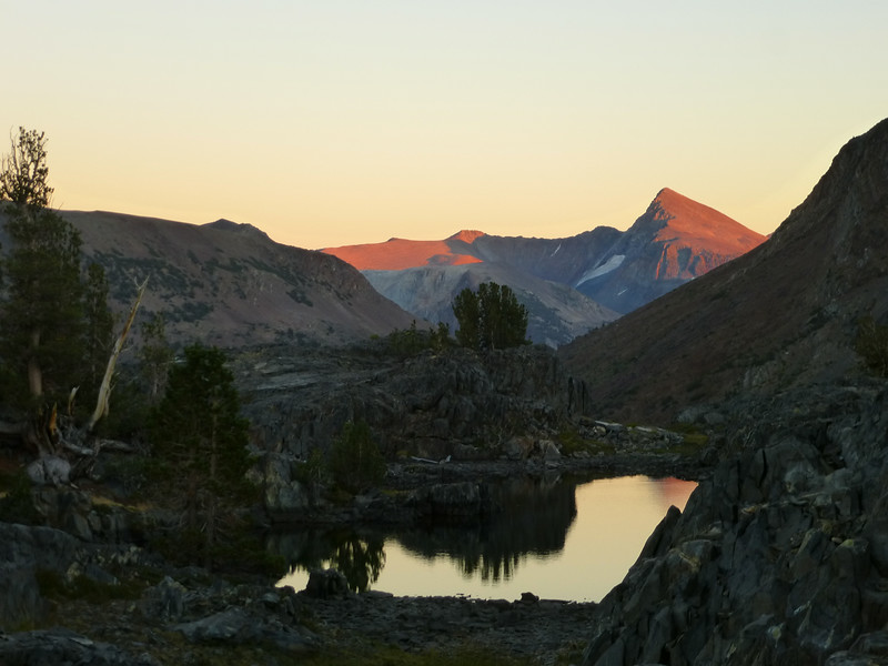 Last light on Mt Dana ending a perfect day