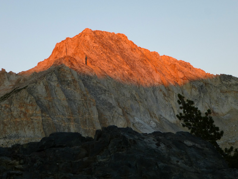 September 1, first light on the summit of North Peak