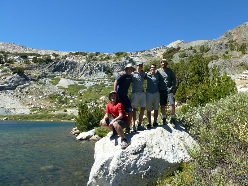 Elias, Denali, Alfred, Beau and Nathan at Steelhead Lake