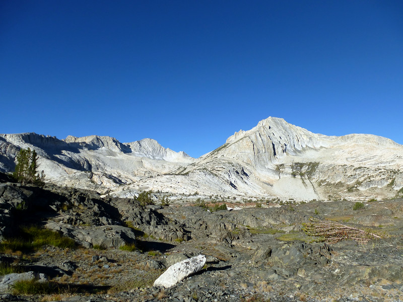 Mt Conness and North peak, early morning August 31, 2014